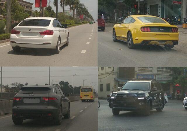 Xe ô tô không có biển số lưu thông trên đường