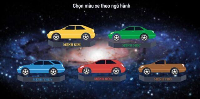 mệnh Kim mua xe màu gì