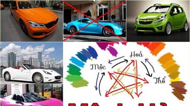 mệnh Hỏa mua xe màu gì hợp