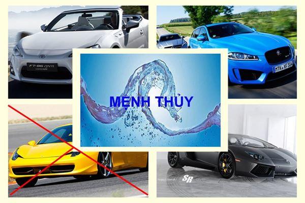 Người mệnh Thủy mua xe màu gì?