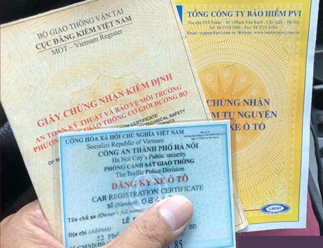 Thủ tục đăng ký xe ô tô