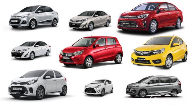 Các loại xe ô tô 4, 5 chỗ giá rẻ