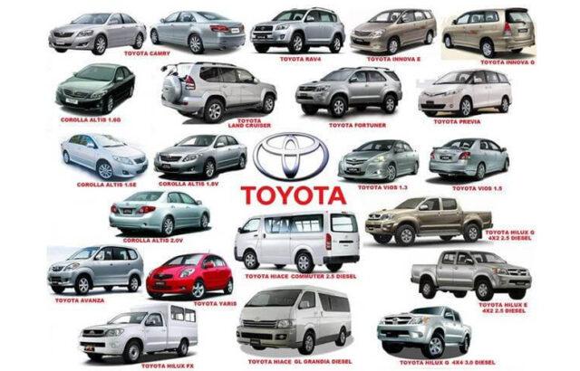 Các mẫu xe Toyota