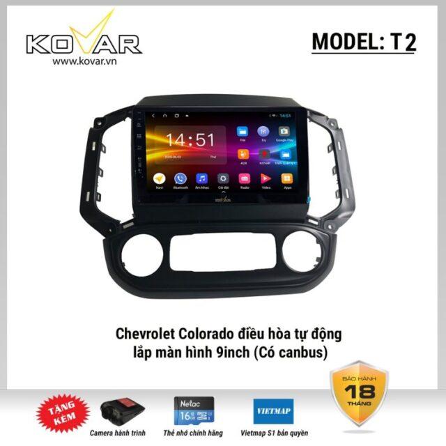 màn hình android Chevrolet Colorado