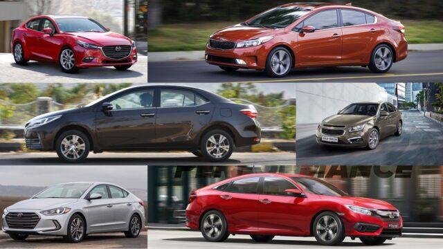 giá bán của các mẫu xe tiêu biểu phân khúc hạng A, B, C, D